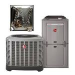 1.5 Ton Rheem 16 SEER R410A 96% AFUE 56,000 BTU Two-Stage Variable Speed Multi-Position Gas Furnace Split System